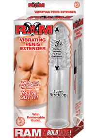 Ram Vibrating Penis Extender Clear