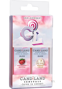Candiland Glides 2pk Whip Cream/strawber