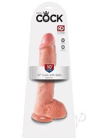 Kc 10 Cock W/balls Flesh