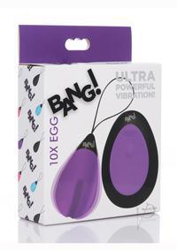 Bang 10x Silicone Vibrating Egg Purple