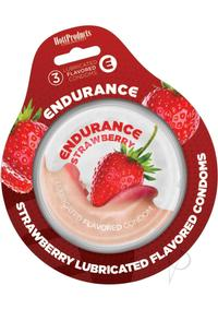 Endurance Condom Strawberry 3pk