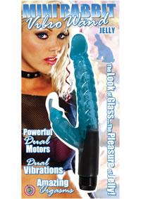 Jelly Mini Rabbit Wand - Blue