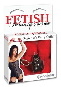 Ff Beginner Furry Cuffs Red