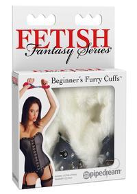 Ff Beginner Furry Cuffs White