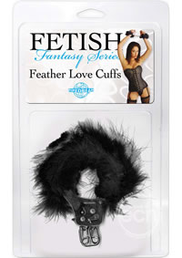 Ff Feather Love Cuffs Black