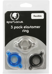 Elastomer C Ring 3 Pk - Blk/blue/clear