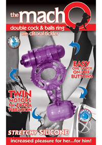 Macho Dbl Cock and Ball Ring - Purple