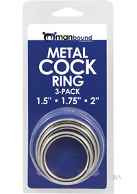 Manbound Metal Cockring 3pk