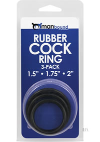 Manbound Rubber Cock Ring 3pk