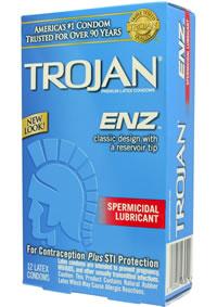 Trojan Enz W/sperm 12`s