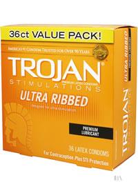 Trojan Ultra Ribbed 36`s