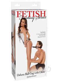 Ff Deluxe Ball Gag W/dildo