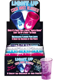 Light Up Shot Glasses 12/display