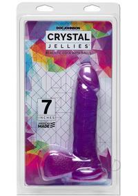 Crystal Jellies Ballsy Cock 6 Purp