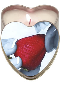 Edible Heart Candle Strawberry