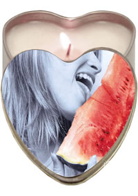 Edible Heart Candle Watermelon
