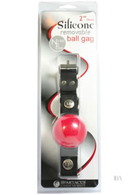 Nickel Free Silicone Ball Gag Lg Red