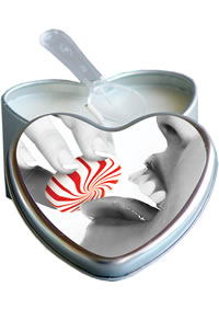 Edible Heart Candles Mint