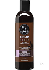Hemp Massage Oil Lavender 8 Oz