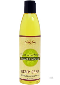 Hemp Massage Oil Naked Woods 8oz