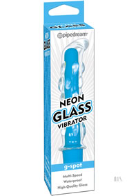 Neon Glass Vibrator Blue (disc)