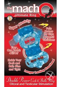 Macho Dbl Power Ring Blue
