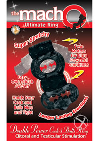 Macho Dbl Power Ring Black