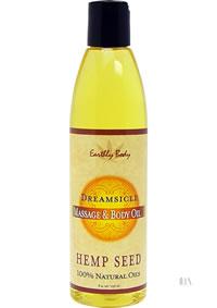 Hemp Massage Oil Dreamsicle 8oz