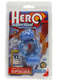Hero Superstud Pleasure Ring - Blue