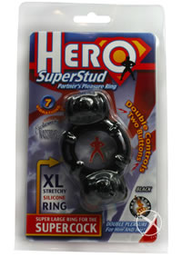Hero Superstud Pleasure Ring - Black