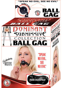 Dom/sub Ball Gag - Black