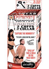 Dom/sub 2 Cuffs And Collar - Black
