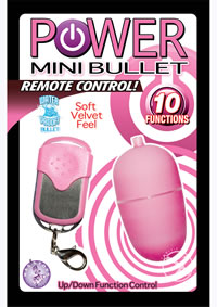 Power Mini Bullet W/remote - Pink