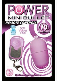 Power Mini Bullet W/remote - Purple