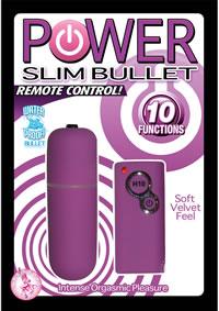Power Slim Bullet W/remote - Purple