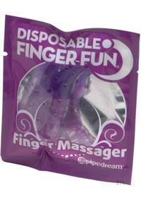Disposable Finger Fun Massager Purple