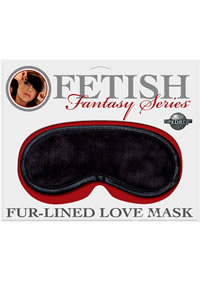 Ff Fur Lined Love Mask Satin/black