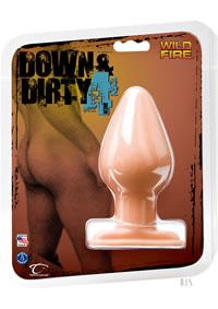 Down Dirty 4 1/2 Inch  butt Plug White