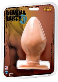 Down Dirty 5 1/2  butt Plug White