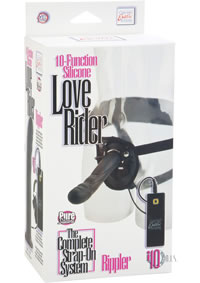Silicone Love Ride Rippler Harness Black