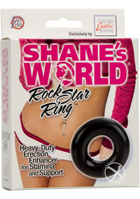 Shanes World Rock Star Ring Black