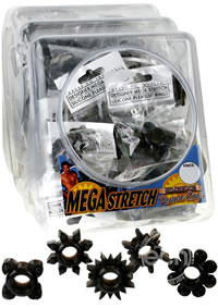 Mega Stretch Rings Black 72/bowl