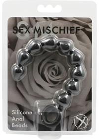 Sandm Black Silicone Anal Beads