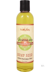 Hemp Massage Oil Guavalava 8oz