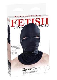 Ff Black Zipper Face Hood