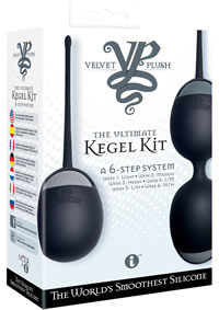 Velvet Plush Kegel Trainer Kit Black