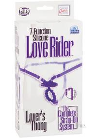 7x Silicone Love Rider Thong Purpl(disc)