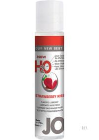 Jo H2o Flavor Lube Strawberry 1oz 12/dis