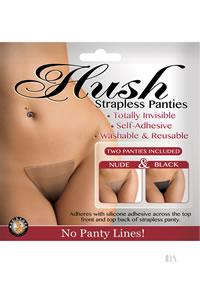 Hush Strapless Panties Nude-black S/m