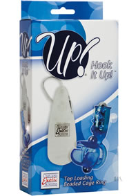 Hook It Up Top Loading Beaded Ring Blue